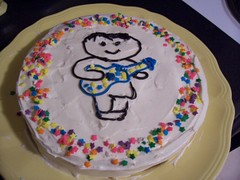 Isaac's birthday cake (stupid clever) Tags: birthday cake stars guitar birthdaycake guitarcake