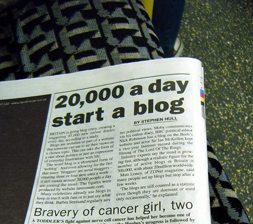 Britain Going Blog Crazy - Metro Article by Annie Mole.
