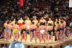 (Pittam) Tags: food japan canon tokyo canon350d sumo wrestlers sponsors tokio tokyu ryogoku