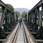 Amber on bridge over River Kwai thumbnail