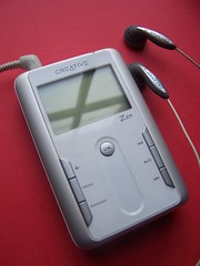 Creative Zen MP3 player by blogefl on Flickr licensed under Creative Commons