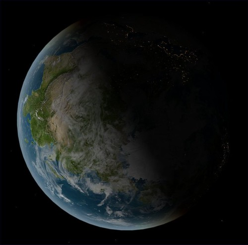 Earth Asia Terminator View