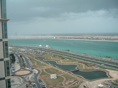 Sandstorm on the Corniche (Delta_Storm) Tags: abu dhabi emirates skyscapers sea arab sandstorm building abudhabi