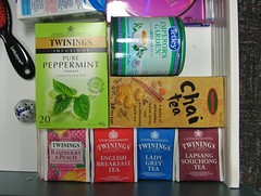 Desk drawer tea-stash, originally uploaded to Flickr by Kratzy