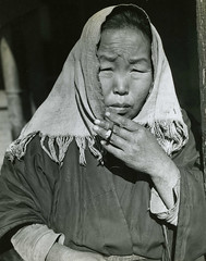 Korean Woman (dok1) Tags: people blackandwhite korea seoul 1945 expd