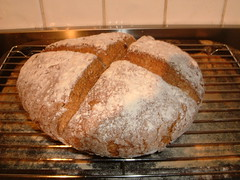 Irish Soda Bread - Mmmmm! (TheLizardQueen) Tags: ireland irish food cooking bread recipe yummy steps delicious eat enjoy ingredients preparation sodabread recipestream gentechnikfrei thefutureisgefree gmofreefoods sansogmnoquierotransgenicosgmofreeorganic gmofreeirelandgefreenewzealand gmofreewheatpotatoes