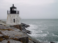 Castle Hill Light in Newport, Rhode Island (roddh) Tags: lighthouse topv111 topv333 sony cybershot rhodeisland newport castlehill nov2004 f707 roddh
