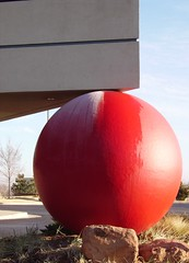 Lakepoint (cmk53) Tags: red building tag3 taggedout modern ball cool tag2 tag1 architectural