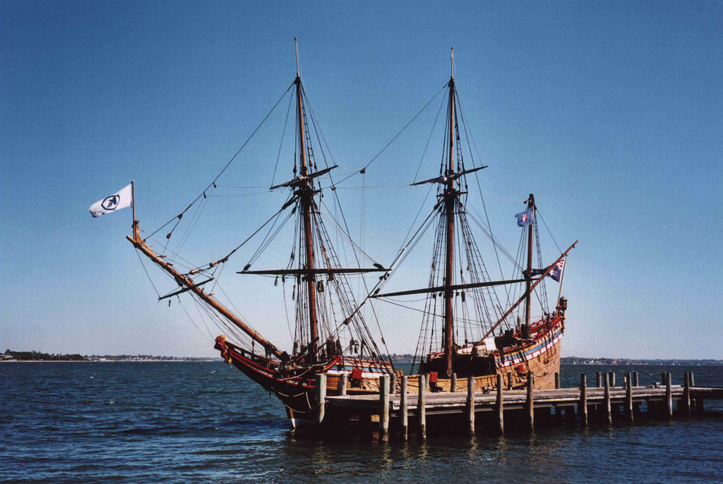 Duyfken Replica ship at the Old Swan Brewery in Perth Western Australia
