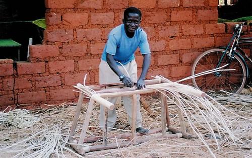 Furniture-making in Nduta camp