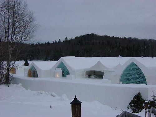 El hotel de hielo... canadiense