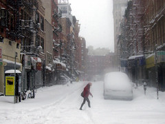 Orchard Street - Blizzard of 2006 - by holycalamity