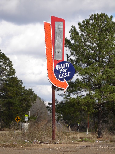 Quality for Less Gas Sign, Utica MS