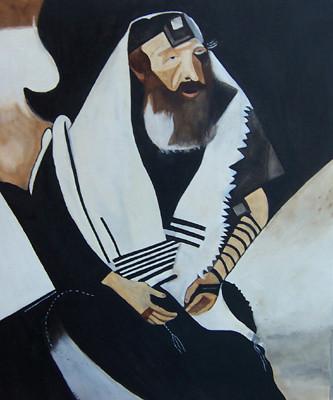 El rabino de Vitevsk, de Marc Chagall