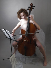 celloangel (torontofotobug) Tags: portrait music woman toronto feet girl beautiful angel wings glow legs andrea bare niece cello angelwings cellist toppics annedehaas draya