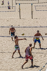 Volleyball Court #24 (jackalope22) Tags: ca sea beach sports ball sand huntington volleyball nets