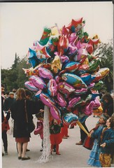 Easter Festivities in the National gardens Athens (redchillihead) Tags: warren smart greece turkey 1989 easter festivities national gardens athens 1980s oe kiwi traveller