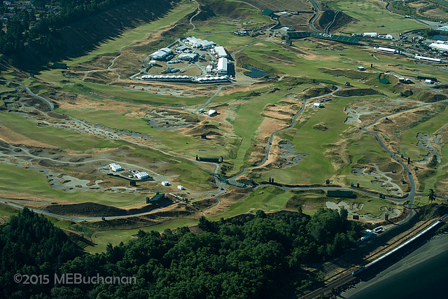 Chambers Bay Golf Aerial 2015