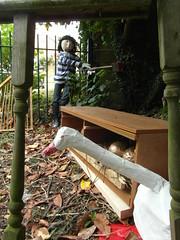 Goose Scarecrow (Munki Munki) Tags: fairytale goose axe harp goldeneggs portmulgrave nyorks hinderwell jackandbeanstalk scarecrowfestival2015