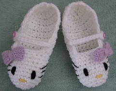 Hello kitty slippers (Lauris196) Tags: hello crochet kitty slippers pantuflas