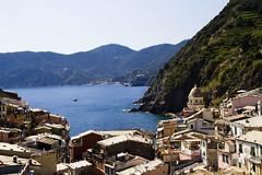 Sea beyond the village (UberFop) Tags: sea italy panorama seascape italia mare village liguria terre cinqueterre vernazza borgo cinque villaggio