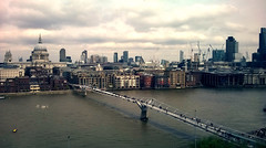 Otherside (Felson.) Tags: city trip travel bridge sky holiday london water thames clouds buildings river landscape grey nuvole cityscape grigio cathedral tate fiume gray millenniumbridge tatemodern ponte cielo acqua londra viaggio vacanza palazzi tamigi cattedrale songdownbythewaterthedecemberists