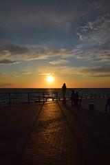 Sunset - Västra hamnen (Maria Eklind) Tags: ocean sunset summer sky orange water clouds skåne sweden silhouettes malmö solnedgång öresund siluetter