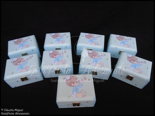 """Caixa grande de batizado e caixas de lembrança """"Little Sailor"""""""