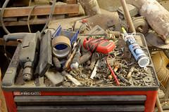 Bric à brac (iveka19) Tags: vis bois metrix moteur beynat ressort déserte facom perceuse ecrous sciures