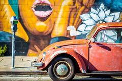 Beat Up (Thomas Hawk) Tags: america california eastbay oakland usa unitedstates unitedstatesofamerica volkswagen volkswagenbeatle auto automobile car graffiti streetart fav10 fav25 fav50 fav100