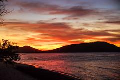 Red sunset at Blue Lagoon (TimoOK) Tags: fiji fidzi bluelagoon sunset auringonlasku punainen red meri sea beach ranta