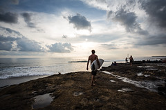 Surfing in Bali (pictcorrect) Tags: bali island echo beach canggu surfers surfing sunset wide angle