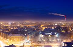 IMG_8657 (KarolisKybartas) Tags: klaipėda nightphotography long exposure city lights landscape snow winter roofs buildings building evening night