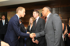 Jackson Greets Prince William at Veteran Hiring Event (Society for Human Resource Management (SHRM)) Tags: military employment job ncf culvercity ca usa