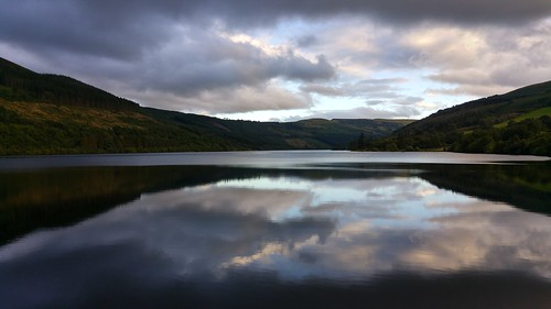 Talybont Reservoir from the dam