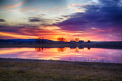 Sorry (Kansas Poetry (Patrick)) Tags: kansas bakerwetlands lawrencekansas wetlands discoverycenter color sunset peace