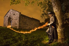 Van Helsing (lightbrothersfotografia) Tags: firejuggling fire firepainting steam steampunk lightpainting onlyraw irixoa galicia spain