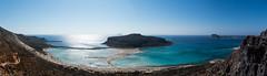 balos beach panorama (www.carbonat380.de) Tags: crete fz1000 greece kreta leica lumix panasonic piratenbucht strand vario balos beach bridge mediterrean panorama sea swimming travelphotography water