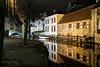 In Bruges (fruizh) Tags: puente barco nocturna reflejos 2016 ríodijver brujas bélgica fruizh