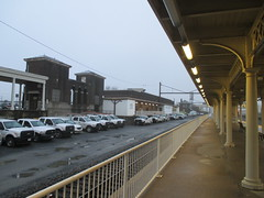 Lancaster Train Station 2017 PA 0540 (Brechtbug) Tags: lancaster train station january 22nd 2017 pa pennsylvania trains bus facade penna holiday with clock transportation architecture building railroad buses profile amtrak 01222017 commuting art waiting room platform tracks