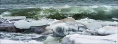 Storm at Plagen beach in Hanko (Tapio Kekkonen) Tags: storm blizard sea snow ice hanko waves winter could finland