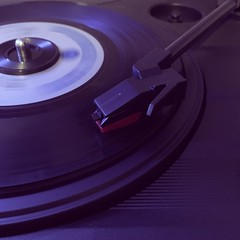 Friday Night Rock and Roll (Trish P. - K1000 Gal) Tags: blur turntable record 45rpm vinyl deeppurple hush longexposure iphone iphonese oldschool purple