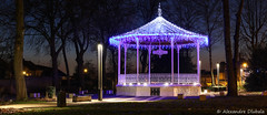 Bandstand with christmas lights (Alexandre D_) Tags: billymontigny hautsdefrance nord pasdecalais bassinminier bandstand kiosque musique music light lights christmas longexposure night city sigma 50mm 50mmf14 sigma50mmf14exhsm panorama canon 70d eos flickr clickx