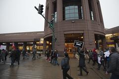 Protesters against Donald Trump march past Minneapolis Convention Center (Fibonacci Blue) Tags: minneapolis mpls protest march trump demonstration event dissent republican outcry activism outrage twincities activist minnesota blm inauguration president resist resistance gop donald