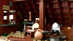 Attic (Adeel Zubair) Tags: afol moc attic support roof rafter technique building lego