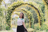 Golden Shower Arches (mikemikecat) Tags: golden shower arches singapore botanic gardens 新加坡植物園 胡姬公園 金色花雨拱門 mikemikecat sonya7r bokeh handheld sony a7r portrait smile 人 85mm f18 people woman carlzeiss batis