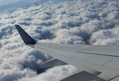 As from above (mary j shanahan) Tags: chicago snow clouds airplane window seat winter christmas break flying home