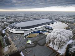 Winter @ Thialf Heerenveen (alexknip) Tags: thialf heerenveen vernieuwdthialf friesland icerink oval speedskating schaatsen droneshot winter winterwonderland