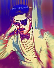 EYEPATCH JAMES JOYCE (sadler0) Tags: jamesjoyce author writer genius color psychedelic eyepatch ulysses finnaganswake gentleman style portrait suit bowtie