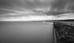 Gorleston Beach (John Pettigrew) Tags: shoreline tamron d750 nikon east pier long noir sea clouds anglia beach gorleston monochrome seashore expopsure sky 2470mm black seascape bw jetty norfolk white